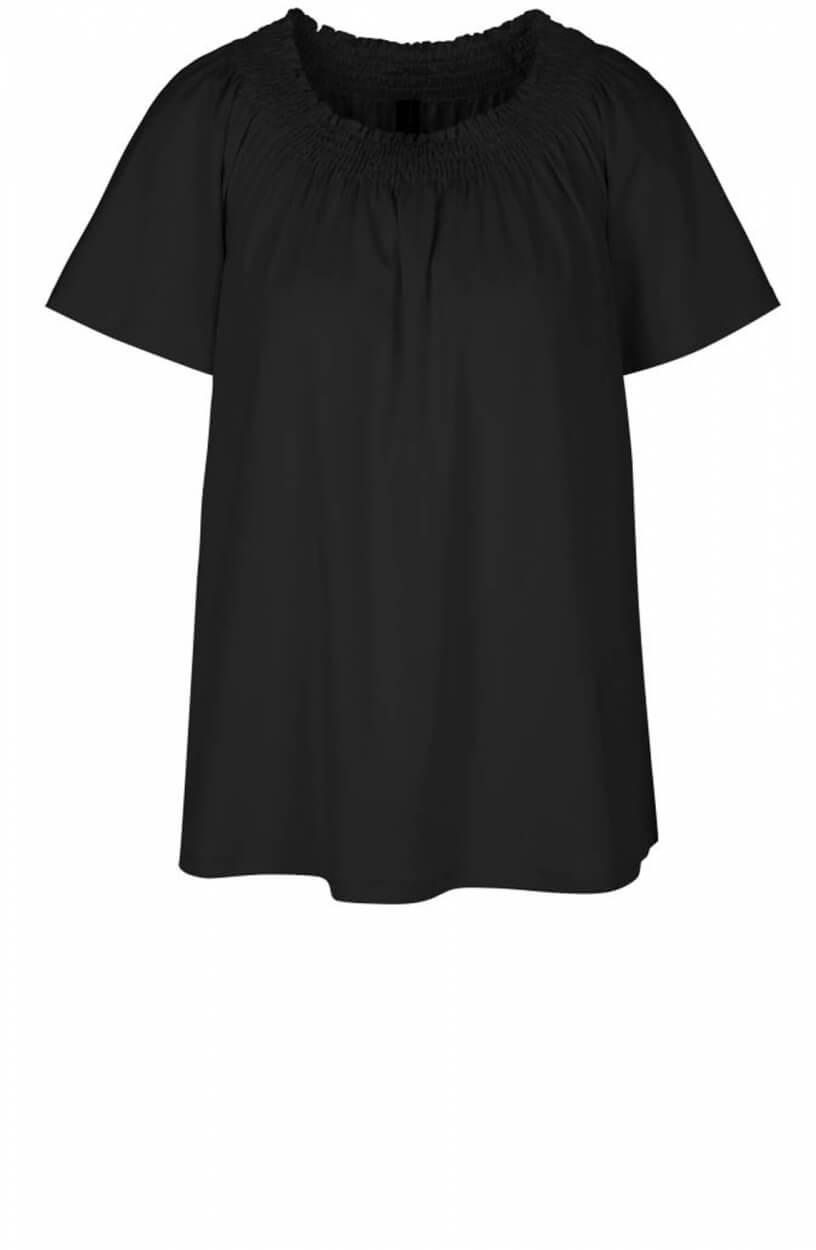 Marccain Dames Shirt met gesmokte hals Zwart