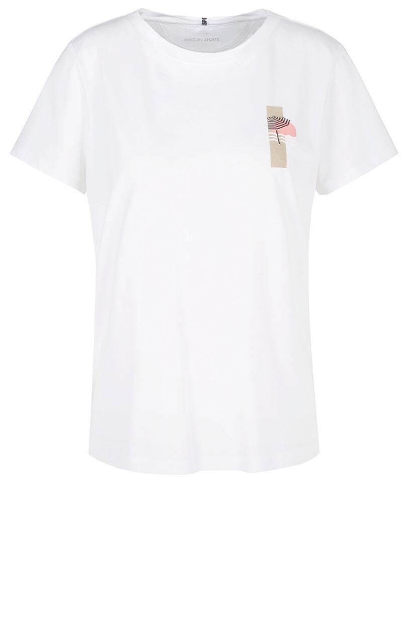 Marccain Sports Dames Shirt met 3D opdruk Wit