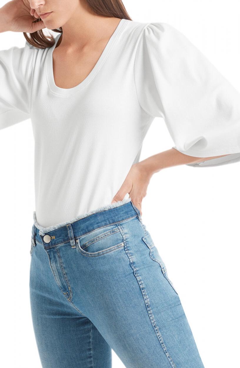 Marccain Sports Dames Shirt met wijde mouwen Wit