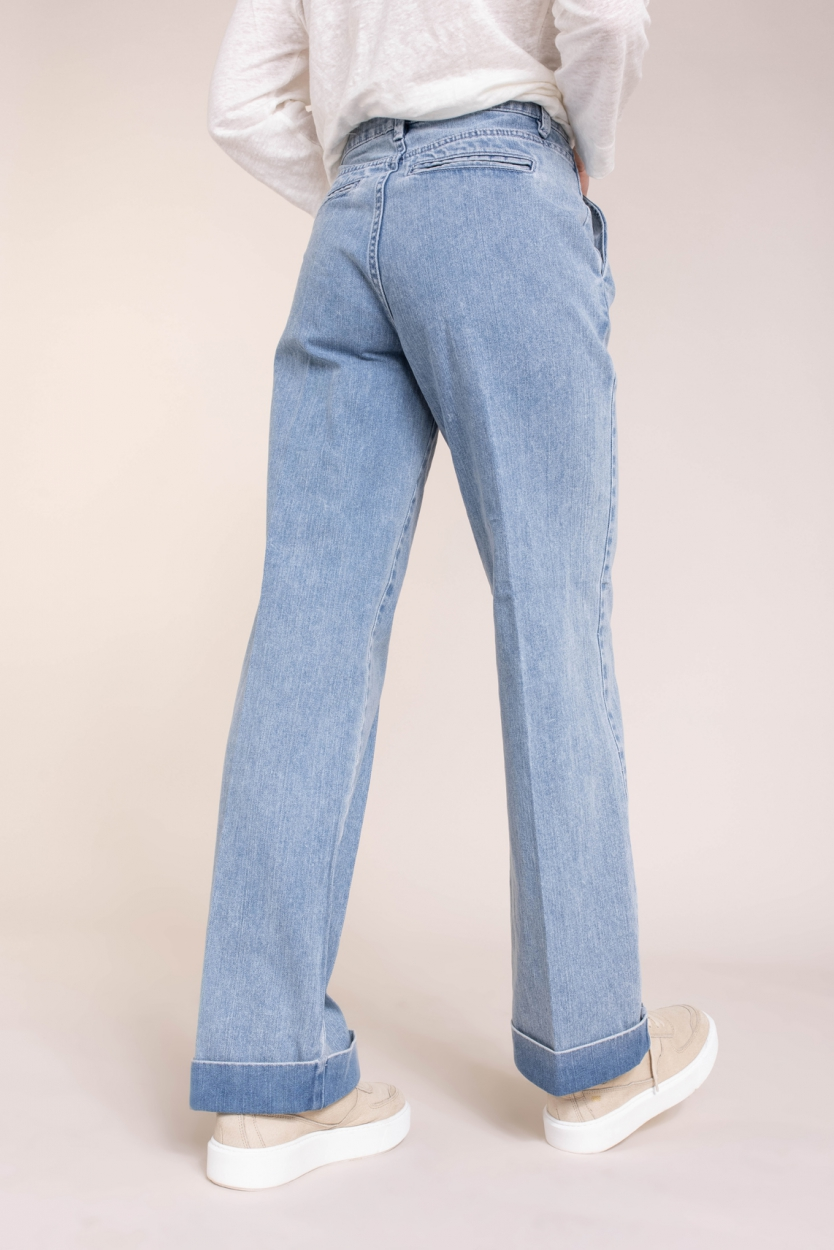 Second Female Dames Beirut jeans Blauw