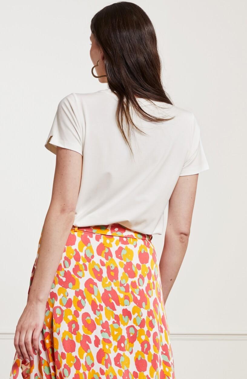 Fabienne Chapot Dames Badstof opdruk shirt Wit