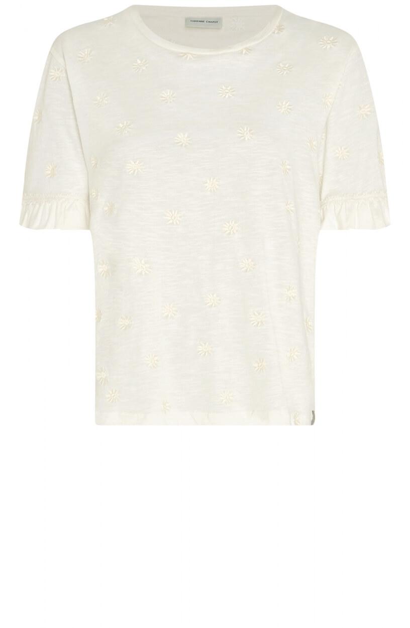 Fabienne Chapot Dames Leo ruffle shirt Wit