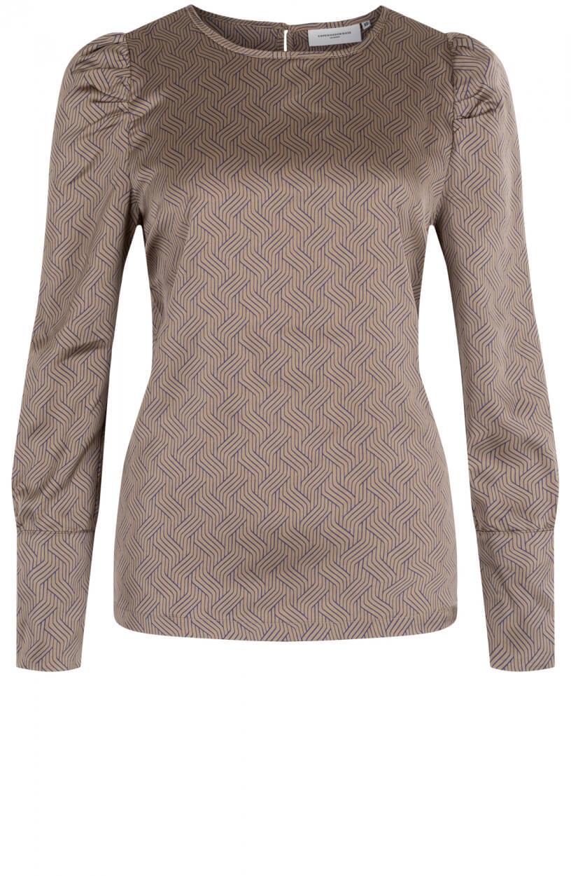 Copenhagen Muse Dames Sue blouse Bruin