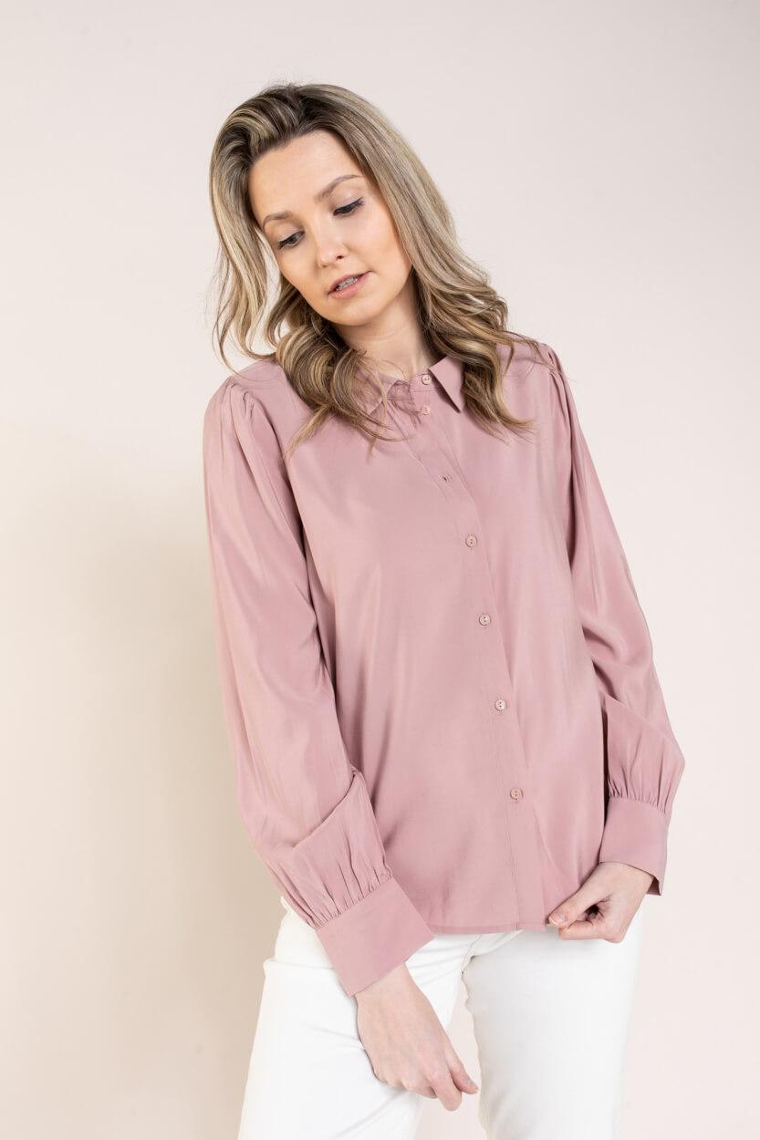 Moss Copenhagen Dames Anneke blouse Roze