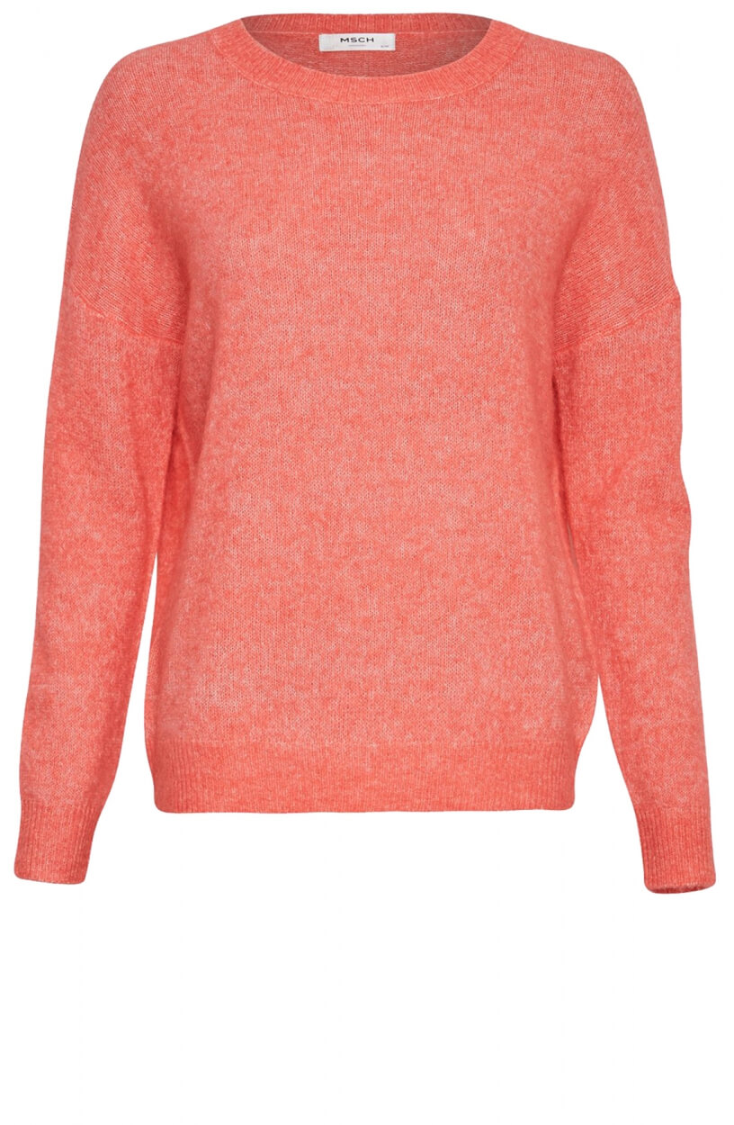 Moss Copenhagen Dames Femme O-neck pullover Roze