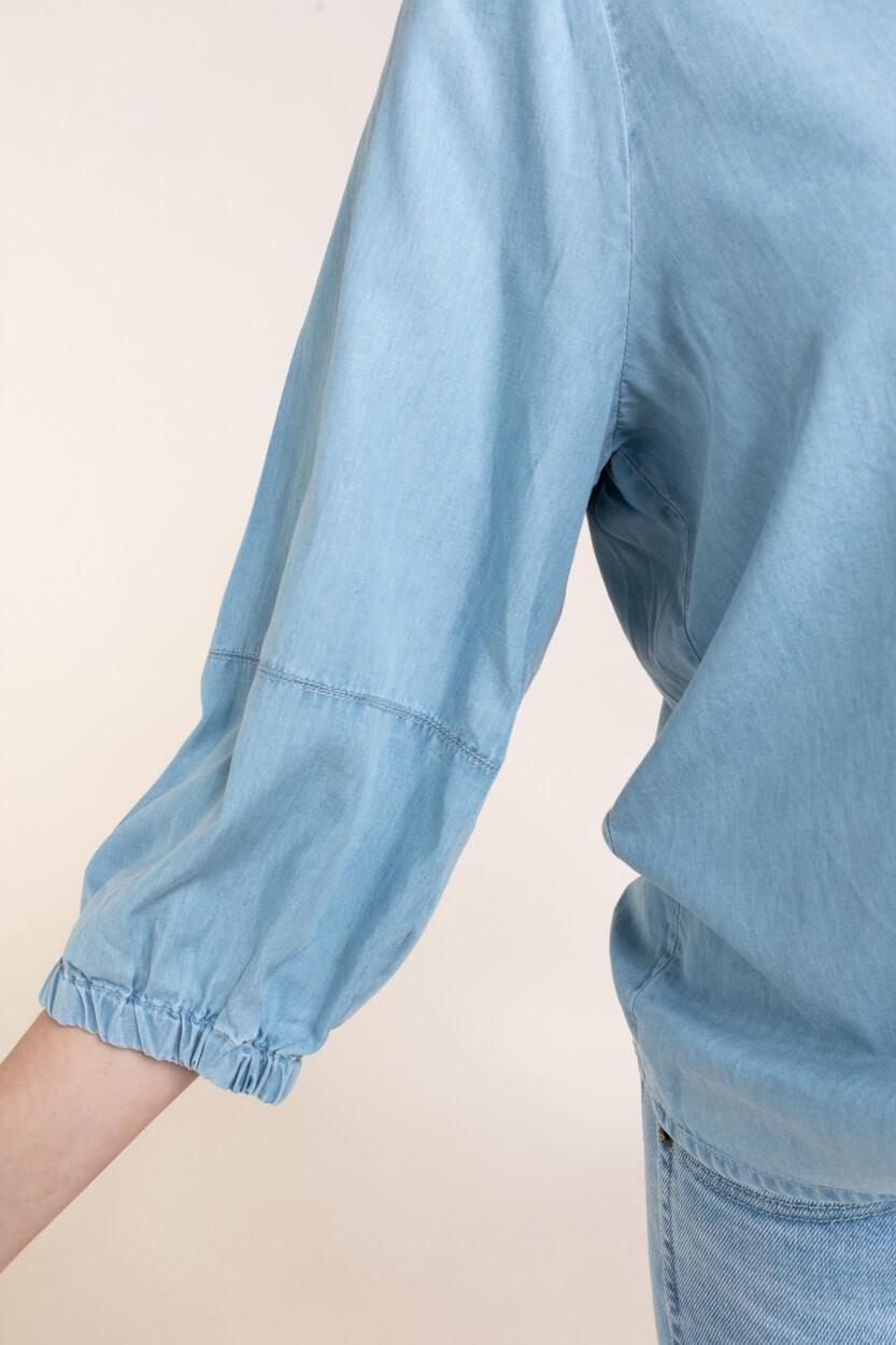 Moss Copenhagen Dames Jaina blouse Blauw