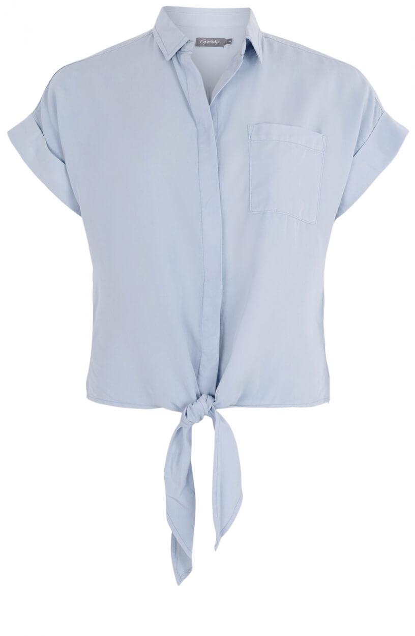 Geisha Dames Knotted blouse Blauw