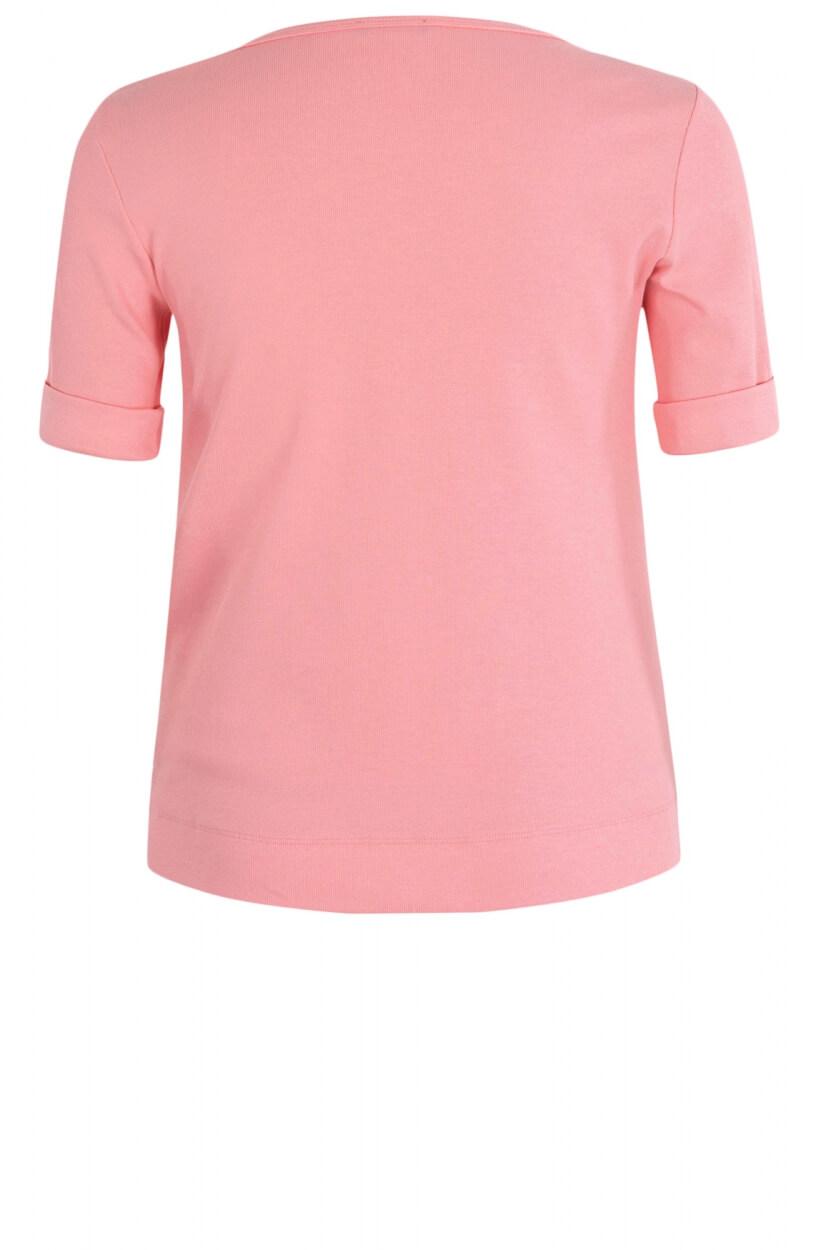 Marccain Sports Dames Shirt met contrastzakje Roze