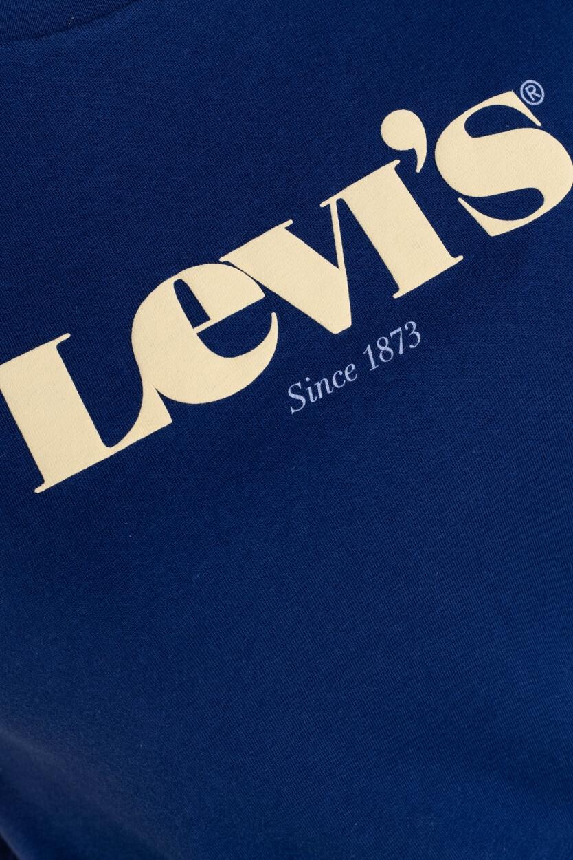 Levi's Dames Logoshirt Blauw