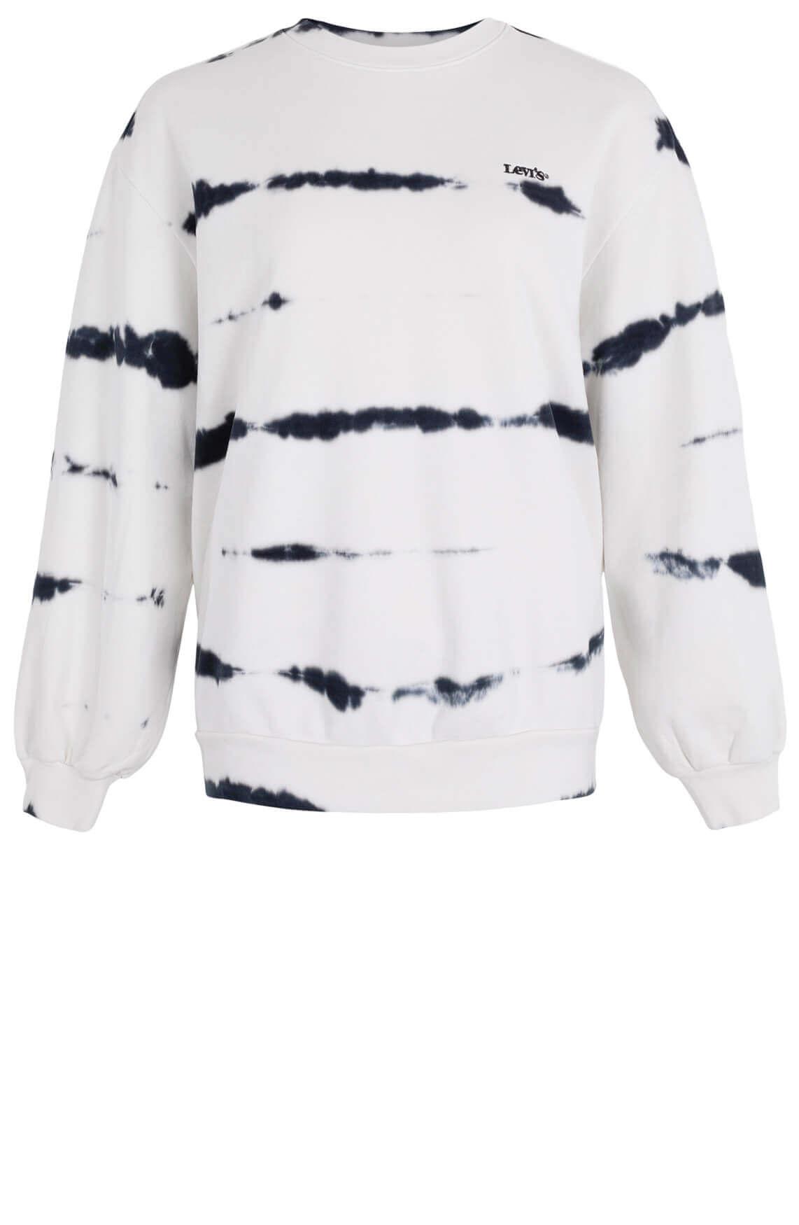 Levi's Dames Melrose tie-dye sweater Wit