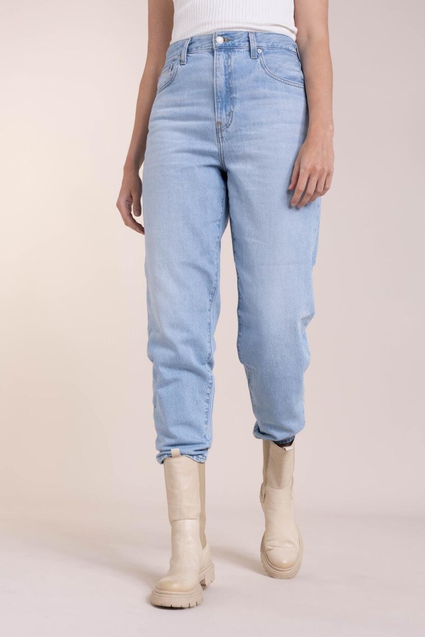 Levi's Dames 501 original cropped jeans Blauw