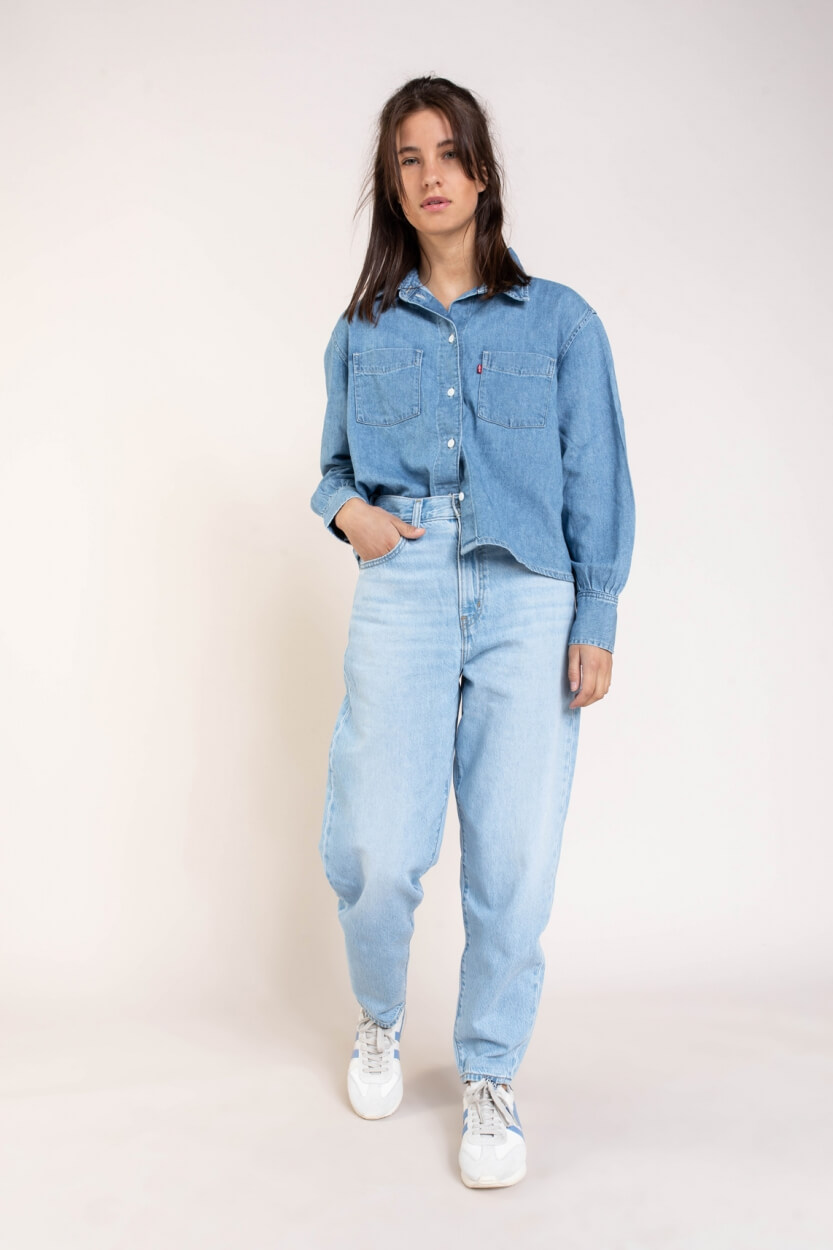 Levi's Dames High loose jeans Blauw