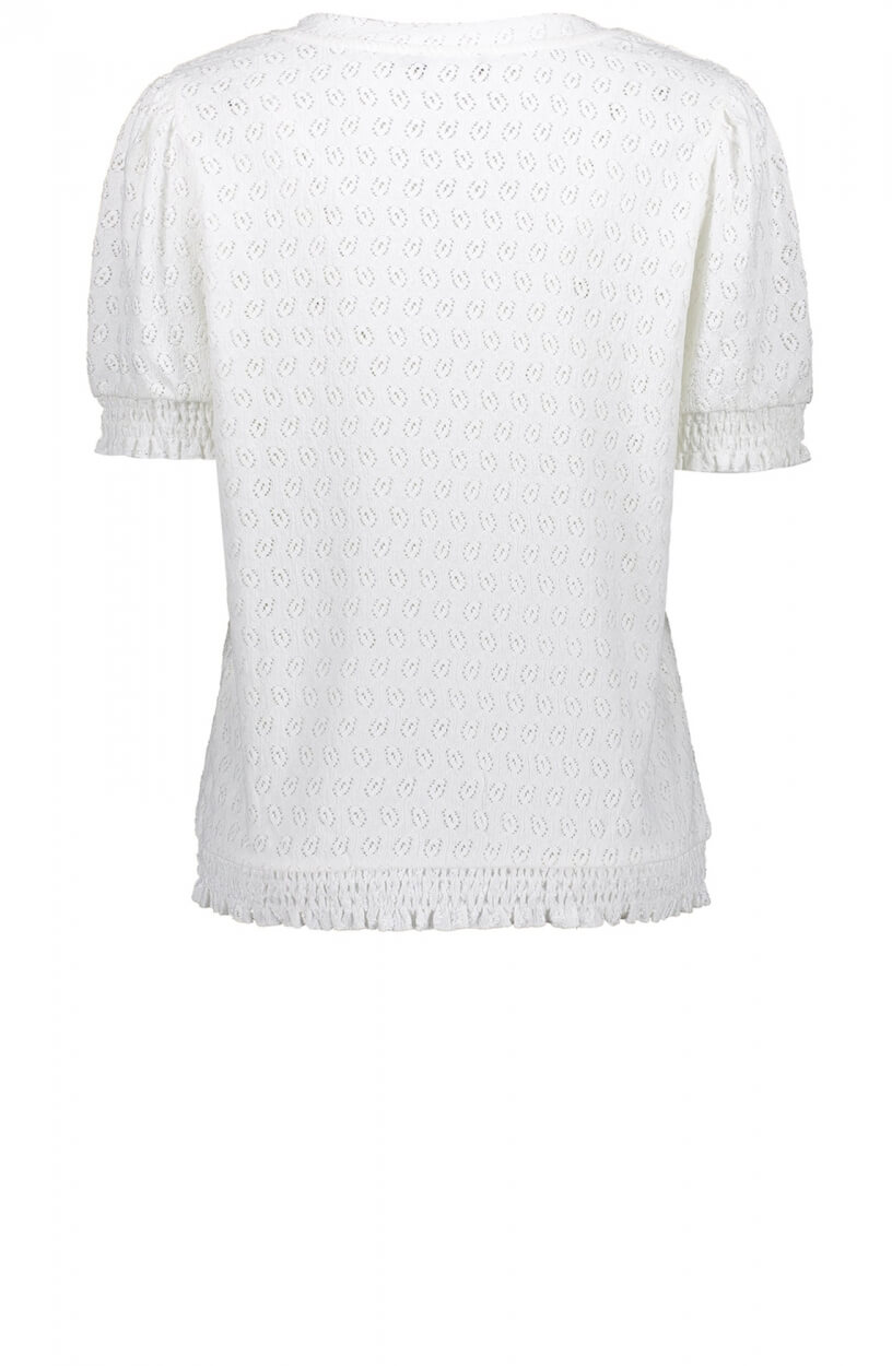 Geisha Dames Shirt met patroon Wit