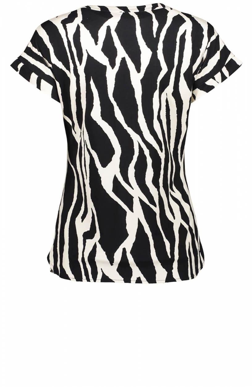 Geisha Dames Zebraprint shirt Zwart