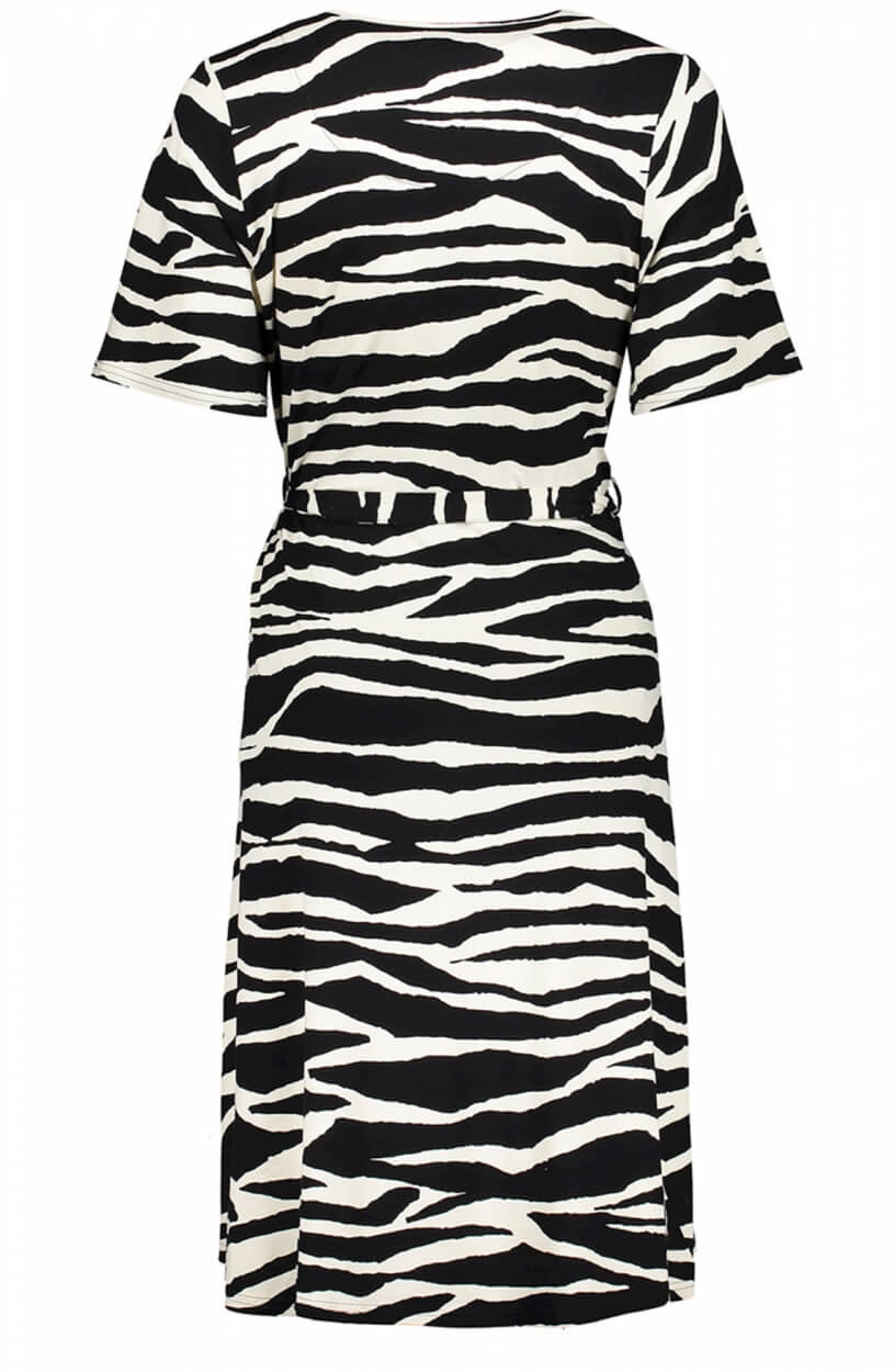 Geisha Dames Zebraprint jurk Zwart