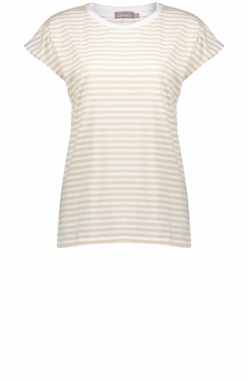 Geisha Dames Shirt met streepmotief Wit