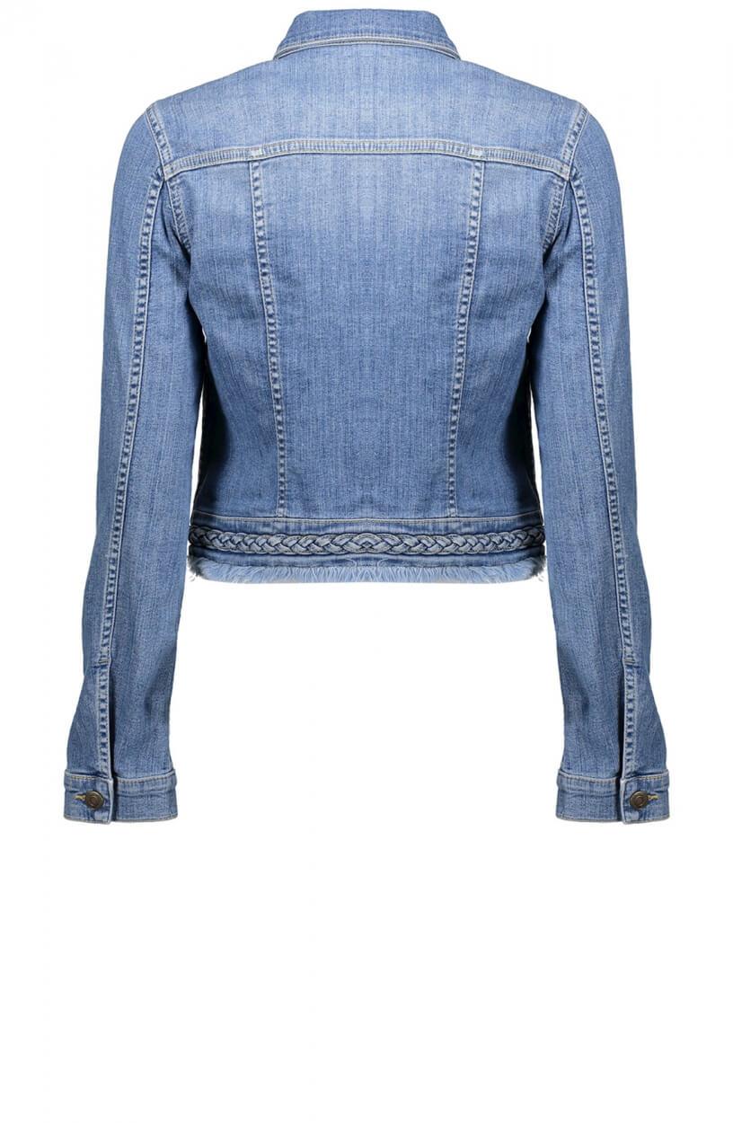 Geisha Dames Braided spijkerjack Blauw