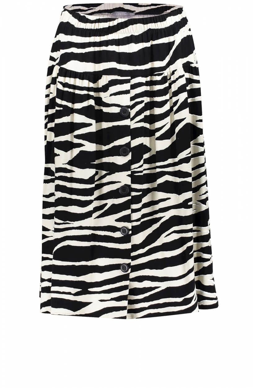 Geisha Dames Zebraprint rok Zwart