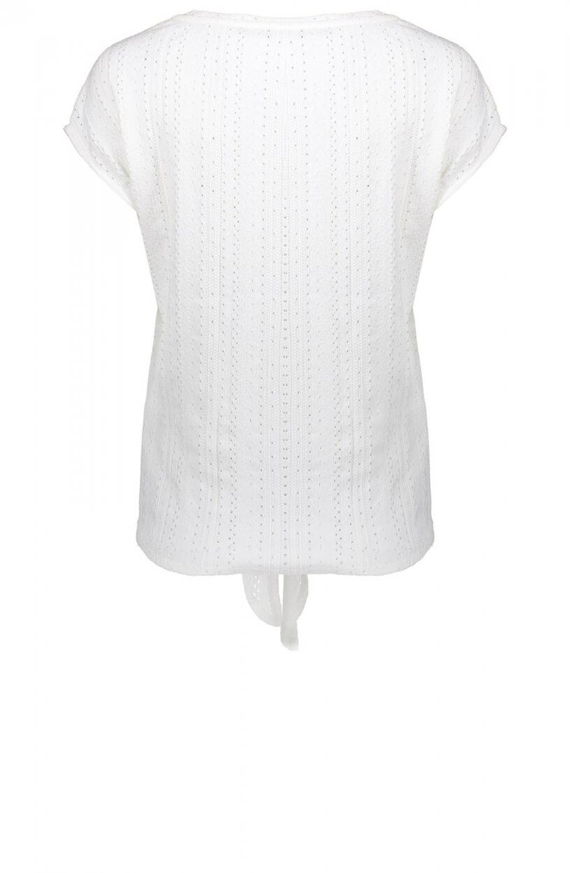 Geisha Dames Ajour t-shirt Wit