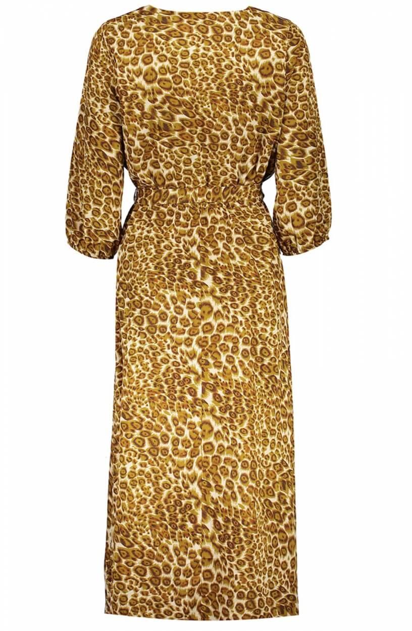 Geisha Dames Animalprint jurk Bruin