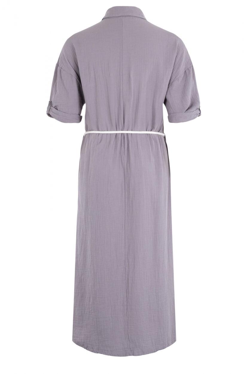10 Days Dames Crinkle jurk Grijs