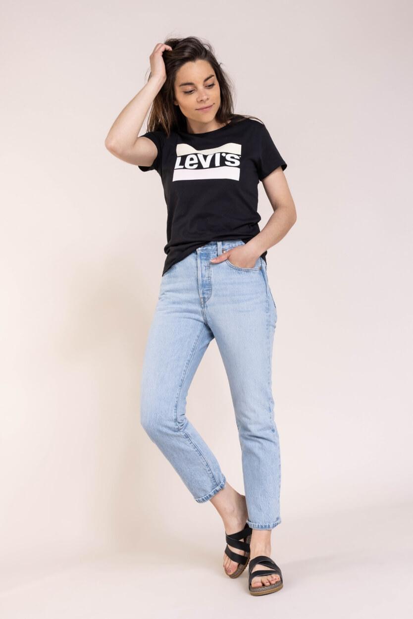 Levi's Dames Logoshirt Zwart