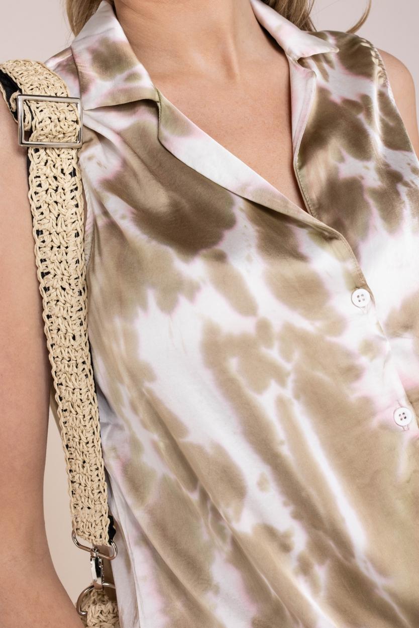 10 Days Dames Tie dye blousetop Geel