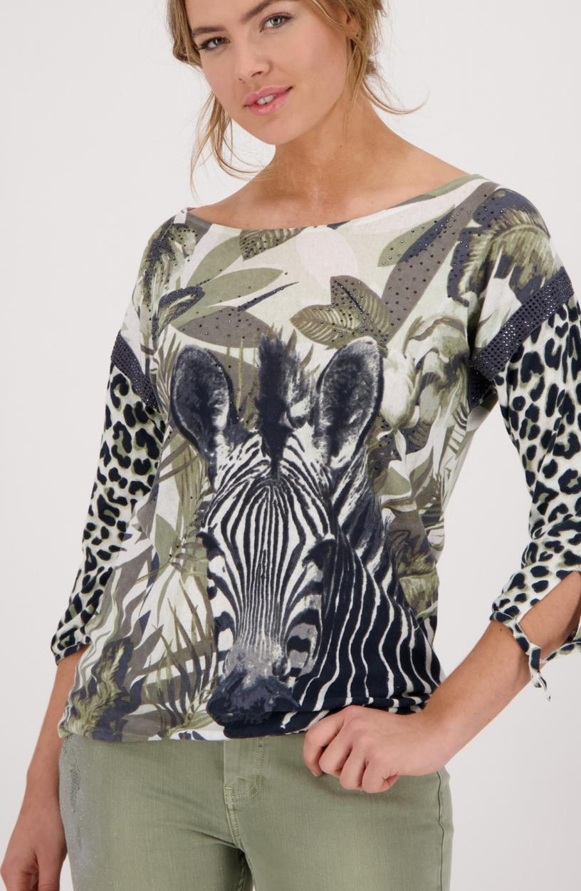 Monari Dames Jungle shirt Groen