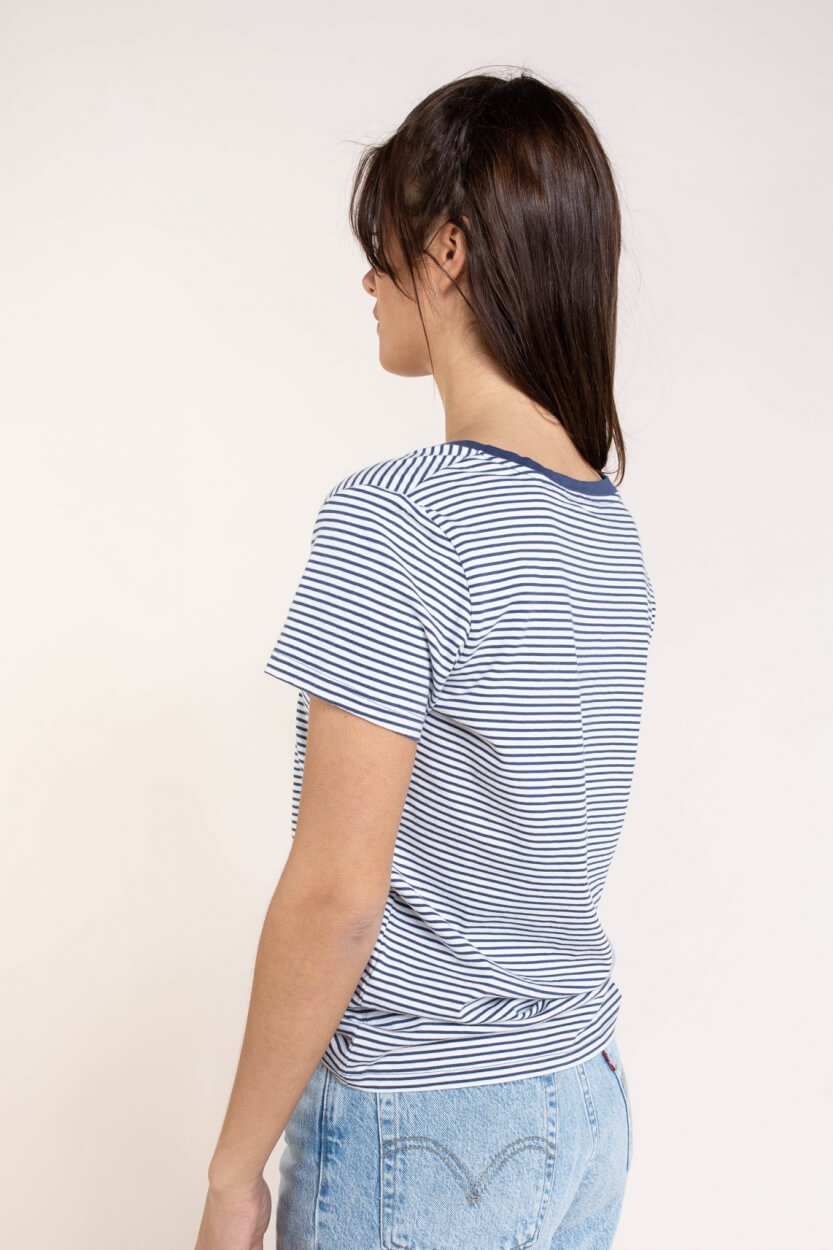 Levi's Dames Gestreept shirt Blauw