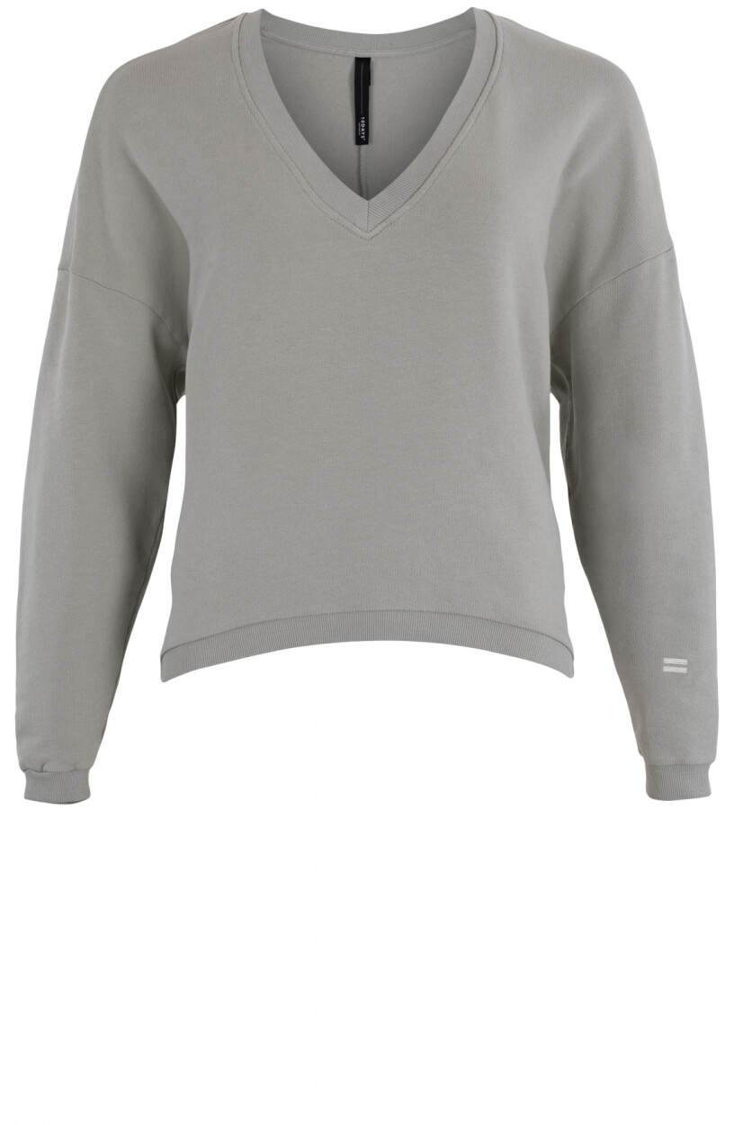 10 Days Dames V-hals sweater Groen