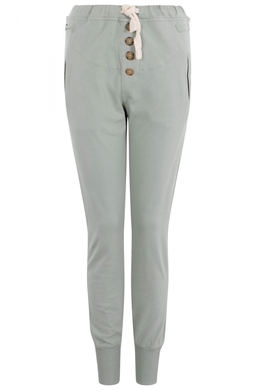 10 Days Dames Slim fit jogger Groen