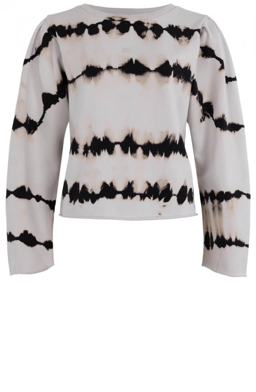 10 Days Dames Tie dye sweater Wit