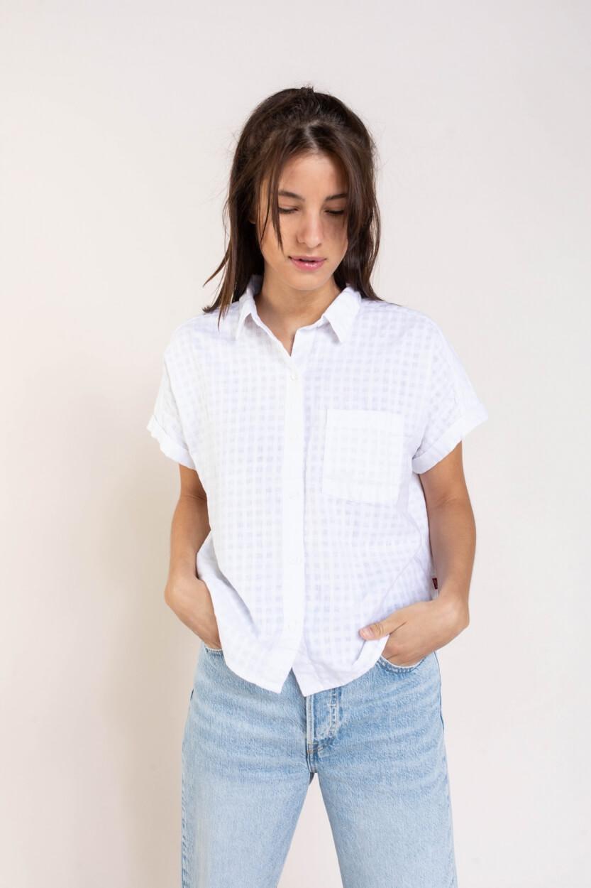 Levi's Dames Linnen blouse Wit