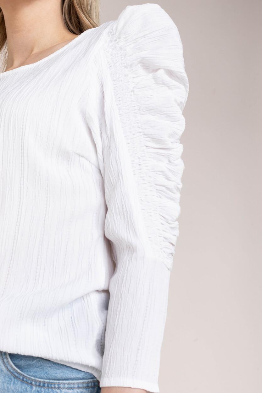 Copenhagen Muse Dames Smock blouse Wit