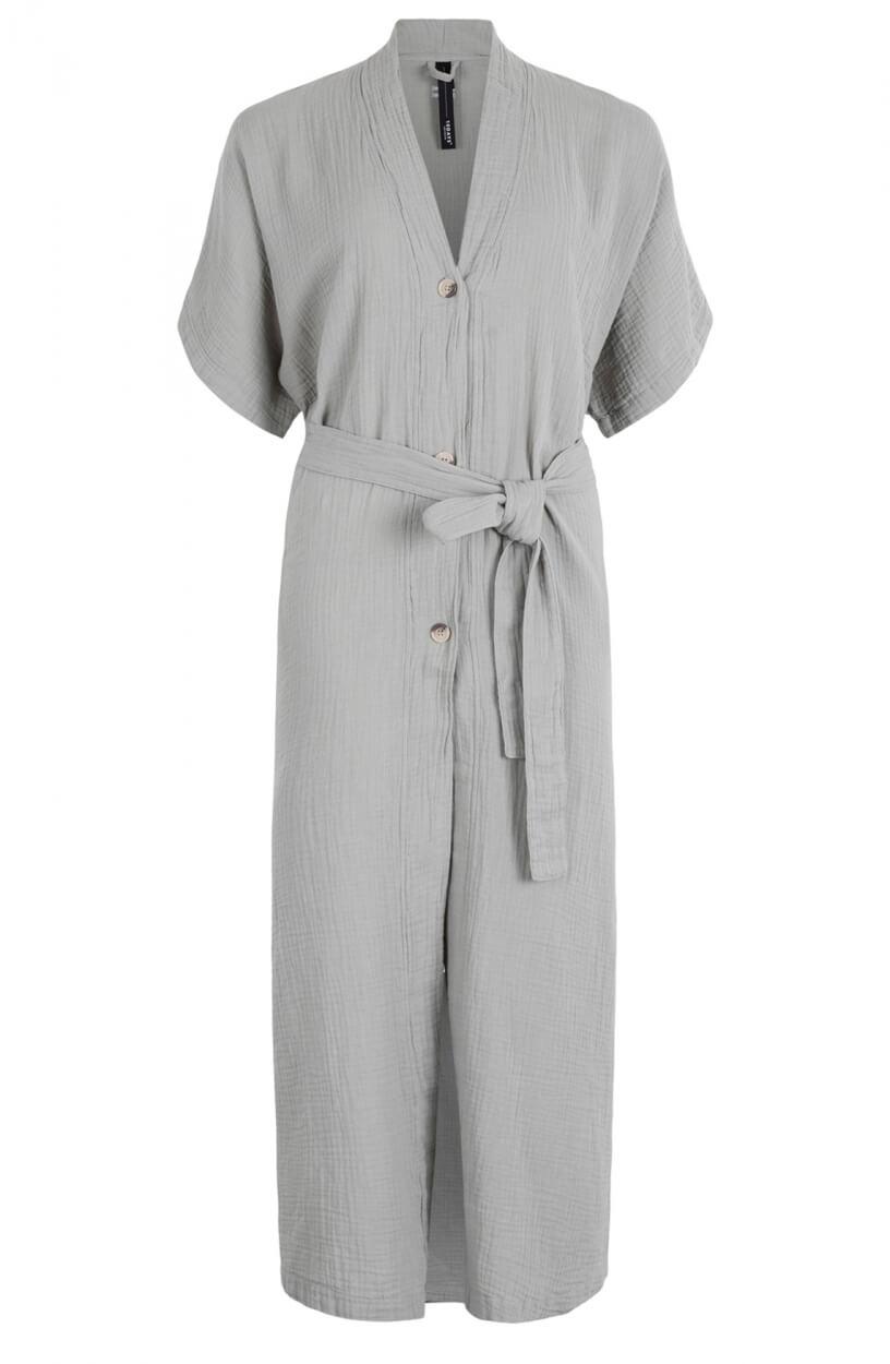 10 Days Dames Crinkle jurk Groen