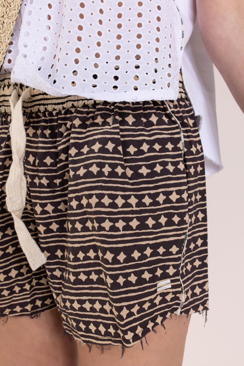 10 Days Dames Stars en stripes short Zwart