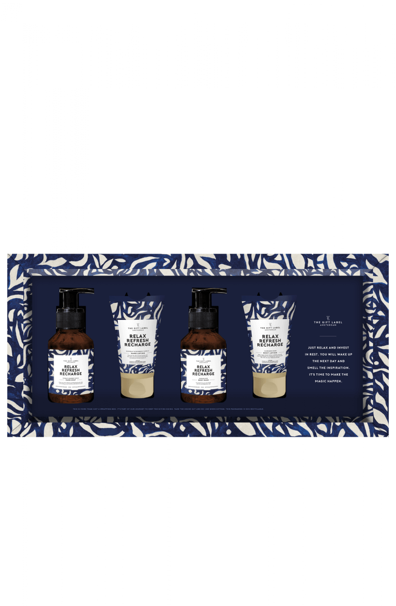 The Gift Label Dames Giftset Blauw