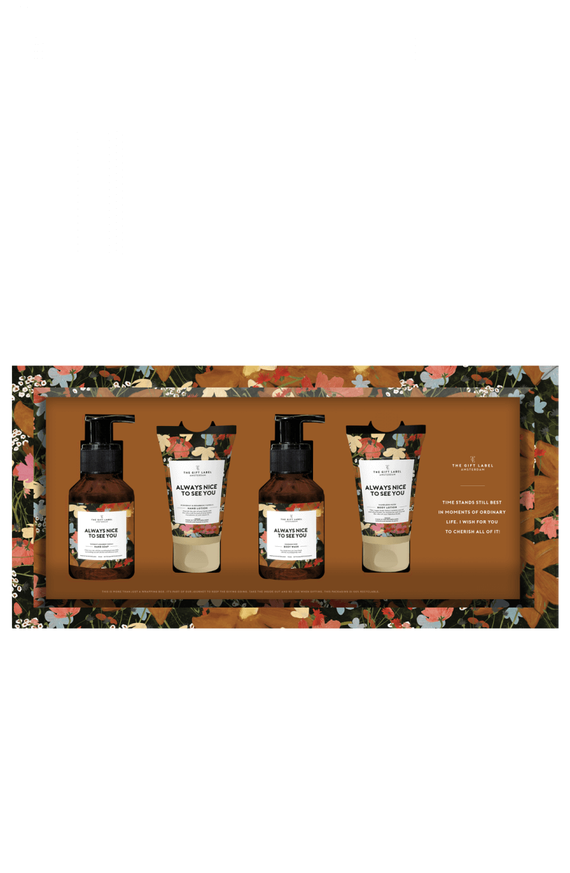 The Gift Label Dames Giftset Bruin
