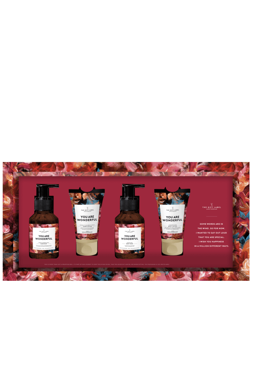 The Gift Label Dames Giftset Roze