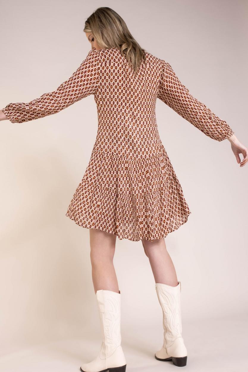 Moliin Copenhagen Dames Rasmine jurk Bruin