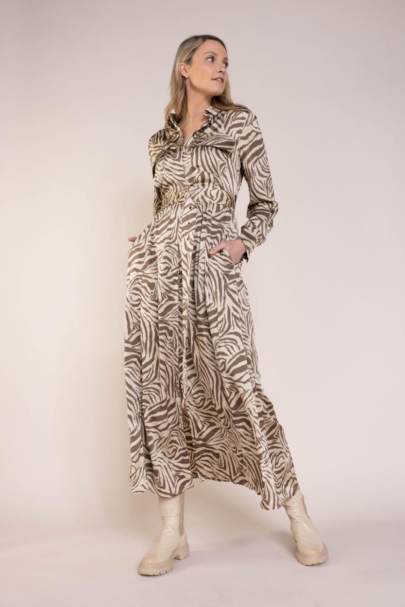Copenhagen Muse Dames Wild jurk Bruin