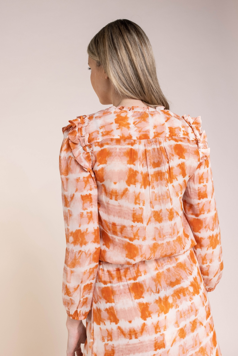 Moliin Copenhagen Dames Bella blouse Oranje