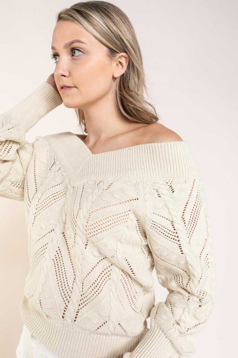 Object Dames Melanie pullover Bruin