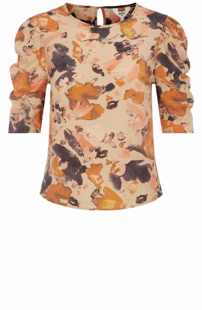 Object Dames Galina blouse Bruin