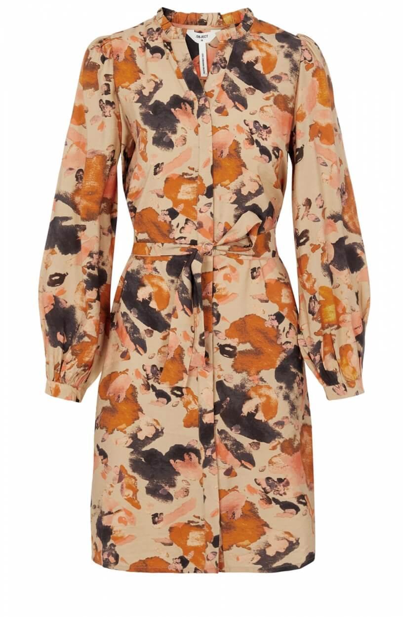 Object Dames Galina jurk Bruin