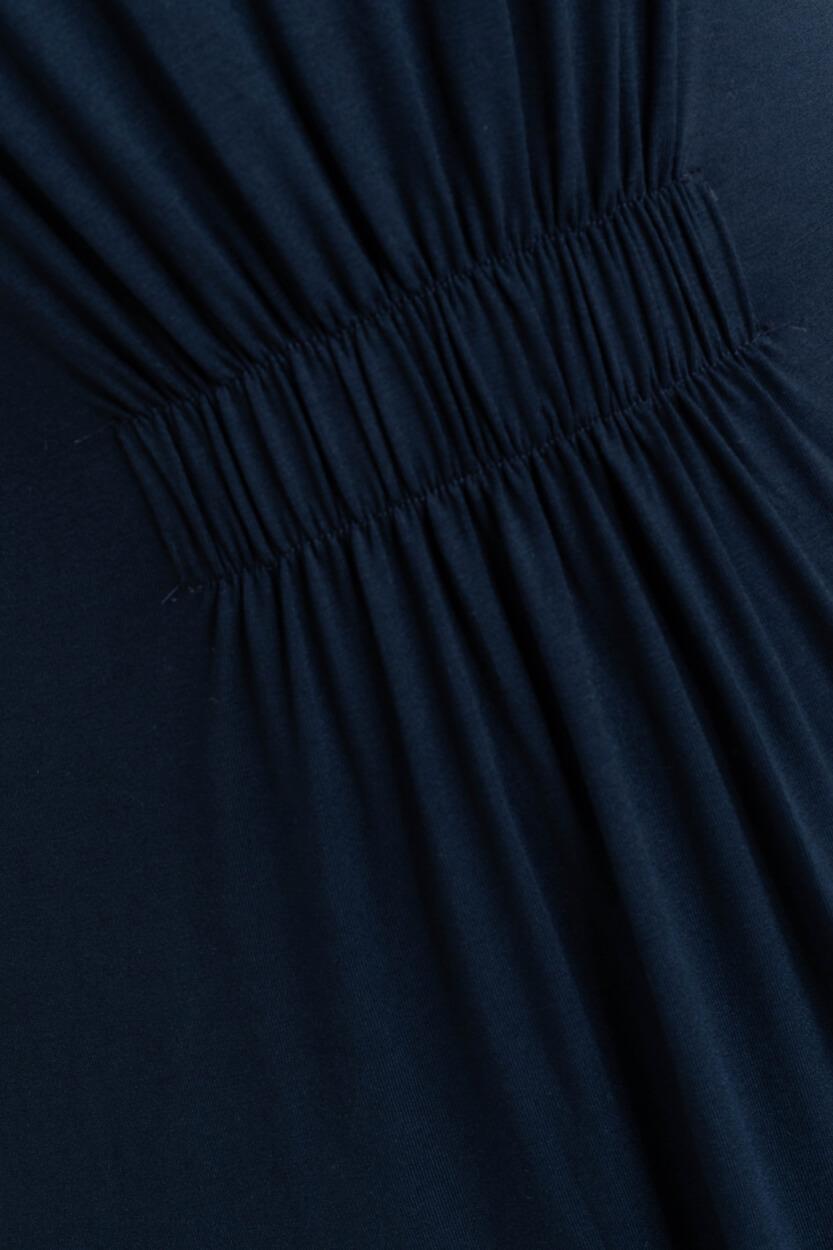 Nümph Dames Nuchanah mouwlozejurk Blauw