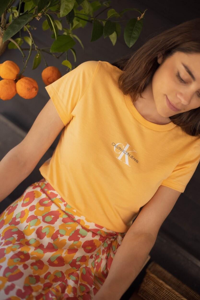 Calvin Klein Dames CK shirt Oranje