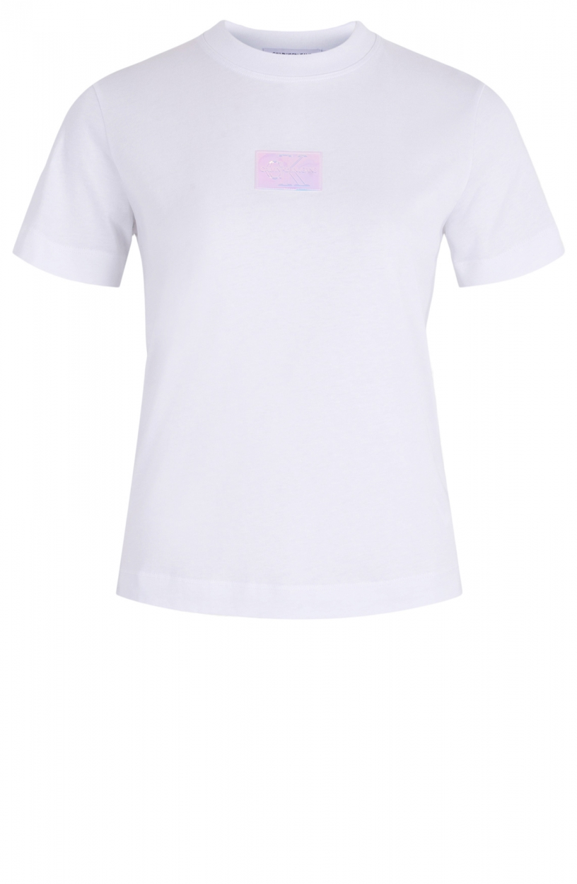 Calvin Klein Dames Shirt met badge Wit