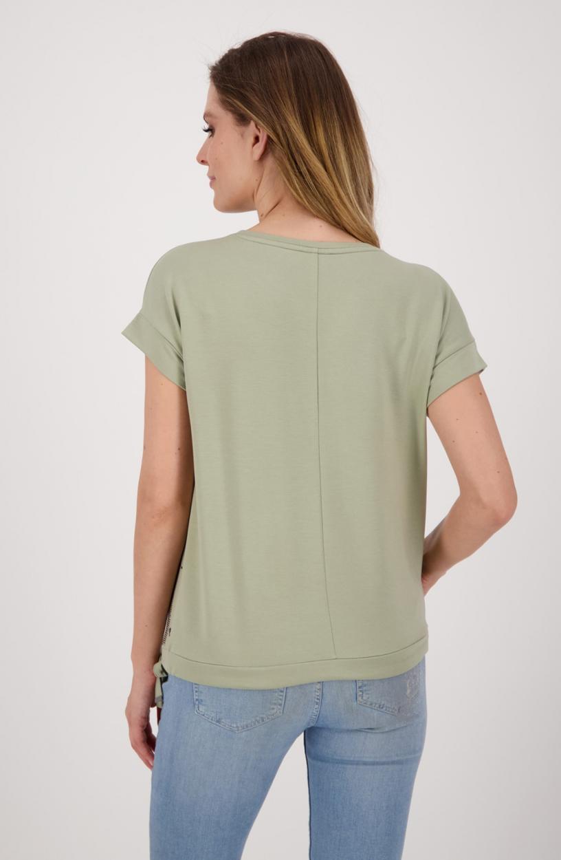 Monari Dames Shirt met strass Groen