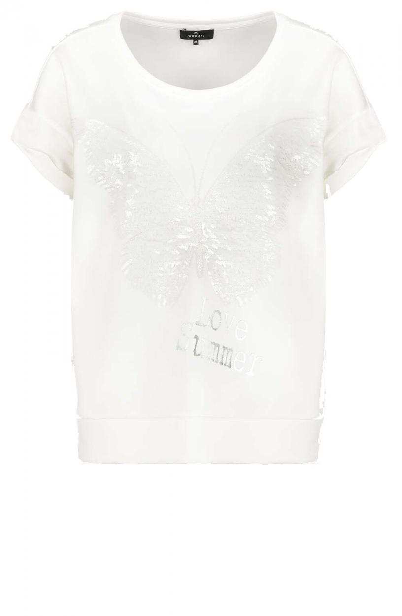 Monari Dames Shirt met lovertjes Wit